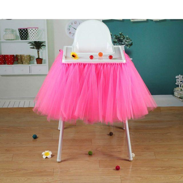 100 cm x 35 cm Tutu de tul faldas bebé ducha cumpleaños decoración para silla alta Textiles para el hogar fiesta suministros