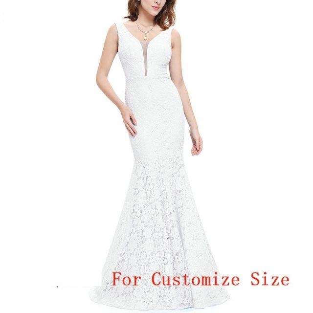 Vestidos de boda de sirena de encaje bonitos sencillos colección 2019 Vestidos de novia elegantes  para Boda