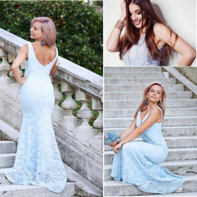 Vestidos de boda de sirena de encaje bonitos 2019 Vestidos de novia elegantes y sencillos para vestido de novia Boda