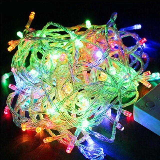ECLH 10 M 5 M 100Led 40Led cadena Garland árbol de Navidad de la luz de hadas Luce impermeable Jardín de la casa de fiesta al aire libre de vacaciones decoración